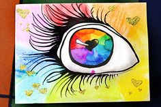 Smart class: seeing artloud with your heart canvas diy Color Wheel Projects, Color Wheel Art, Smart Class, 8th Grade Art, Heart Canvas, School Art Projects, School Ideas, Middle School Art, High School