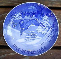 Danish Christmas plates