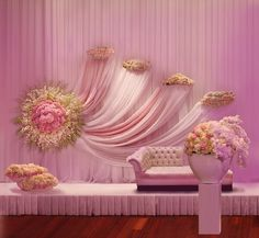 Mandap/Stage Decor perfect for a pink theme south Asian wedding