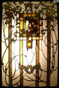 Art Nouveau Stained/Painted Glass