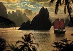 Baie d'Halong, Vietnam.