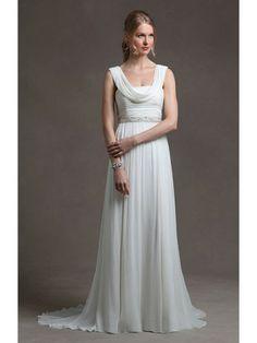 Chiffon Slight Sweetheart Ruched Bodice A-line Wedding Dress