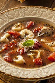 Tortellini Tomato Spinach Soup Recipe