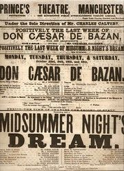 Theatre Playbill - Manchester - 1876