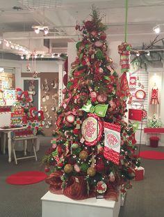 Christmas Display from our Atlanta Showroom at the AmericasMart - Summer 2015! #burtonandburton