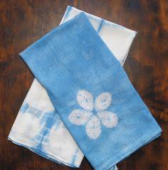 Aizome Japanese indigo multi purpose gauze towel (a two piece set)