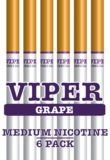 """Help spread the word about ViperECig.com to get a coupon for 5% off instantly! Grape Flavor Medium Nicotine 6-Pack Disposable E-Cigarettes / E-Hookahs. Visit our website at www.ViperECig.com and look for the """"save 5%"""" social networking link. Share our links on facebook, twitter, pinterest, google + or several others and you will receive an instant coupon for 5% off!"""