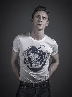 Tom Hiddleston for designer Vivianne Westwood's Climate Revoltion and Greenpeace's campaign to Save the Artic. Photo by Andy Gotts via Twitter, Sept. 21, 2014. http://climaterevolution.co.uk/wp/ https://secure.greenpeace.org.uk/page/content/people-vs-coal
