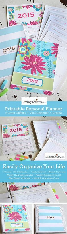 2015 Printable Personal Daily Planner - 13 Binder Planner DIYs to Organize Your Stuff
