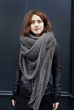 oversized grey scarves - Google Search