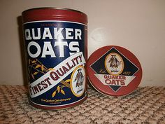 Quaker Oats vintage tin. Brand new. I won this directly from Quaker! (I never win anything!!)