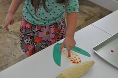 Corn craft for Thanksgiving