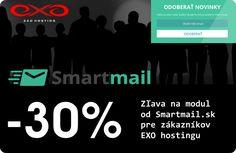 EXO hosting prináša zľavu na Smartmail.sk Exo 02bae787872