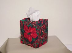 Tissue Box Cover reversible 2 Holiday by Twosisterssewing on Etsy, $15.00