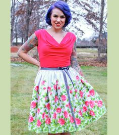 This Gorgeous Skirt is PERFECT for Spring // DIY Wrap Skirt