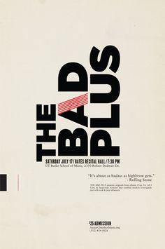 the bad plus — Designspiration