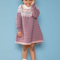 HOY18-09 Lisa kjole sjøgrønn | Du Store Alpakka Baby Barn, Jumpers, Knit Crochet, Baby Kids, Lisa, Retro, Knitting, Crocheting, Sweaters