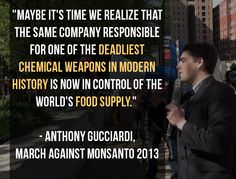Monsanto's Agent Orange killed hundreds of thousands... now they control the food supply.