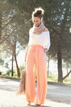 Orange Girl ( Chiffon Tulle Pants & Knitwear Sweaters ) with Lola Mansil