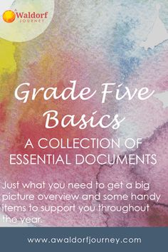 In this packet you'll find my most essential Waldorf Grade Five documents. This is not a complete curriculum, and it is not my full curriculum guide, but it includes the most basic information you'll need. The Upper Grades Morning Verse — The translation I like best. A Grade Five Sample Block Rotation — When should […] Ninth Grade, Seventh Grade, Morning Verses, Waldorf Education, Physical Education, Educational Activities For Preschoolers, Middle School Literacy, 8th Grade Science, Maths Algebra