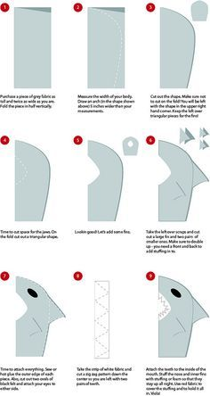 Shark Costume DIY | Flickr - Photo Sharing!                                                                                                                                                                                 More