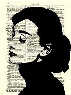Audrey Hepburn Silhouette, Dictionary Art Print, Audrey Hepburn Print, Home… Audrey Hepburn Tattoo, Audrey Hepburn Kunst, Audrey Hepburn Illustration, Audrey Hepburn Drawing, Audrey Hepburn Zeichnung, 3d Templates, Newspaper Art, Book Page Art, Breakfast At Tiffanys