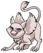 Roux é o animal de estimação de Rochelle Goyle uma Gárgula de Grifo.  Descrição física Roux é um, luz gárgula cinza monocromática na imagem de um grifo, uma criatura com o corpo de um leão, e as asas e cabeça de uma águia. Ela tem olhos cor de rosa como Rochelle Goyle .