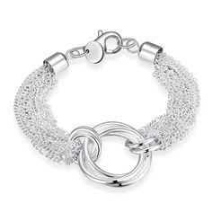 NYKKOLA Fashion Jewelry Beautiful Elegant 925 Sterling Silver plated Dragonfly Bracelet Bangle AsCTi7g