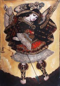 Saint Michael Angel, St Michael, Peruvian Art, Angel Warrior, Spanish Painters, Archangel Michael, Angel Art, Local Artists, History
