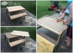 Kids Pallet Sandbox Picnic Table