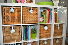 Great idea for organizing kids toys!