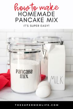 Why buy the boxed pancake mix when you can make your own from ingredients that you probably already have in your pantry? It's super easy too! Breakfast Cassarole, Breakfast Muffins, Best Breakfast, Brunch Recipes, Breakfast Recipes, Dessert Recipes, How To Make Homemade, Cooking Timer, Pancakes