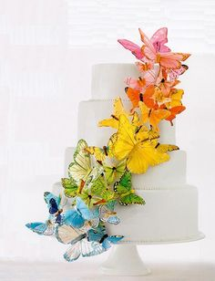 colorful cake cascade