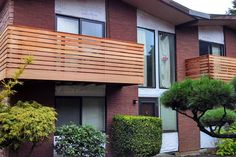New Cedar balcony decking and railing. Horizontal cedar wood planks | Home Improvement | Real Estate & Rental Property