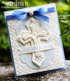 Hi, friends! Before I show you my card today, I just want to wish all the fathers a Happy Father's Day! Confirmation Cards, Baptism Cards, Baptism Gifts, First Communion Cards, Mother Card, Communion Invitations, Spellbinders Cards, Christian Cards, Anna Griffin Cards