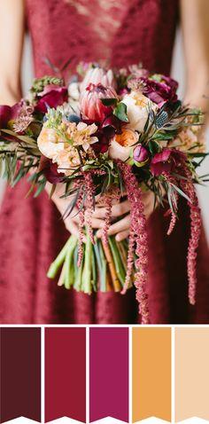 Marvelous Marsala Bridal Bouquet // www.onefabday.com