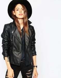 ASOS Ultimate Biker Jacket With Stitch Detail