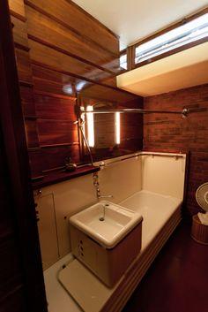 bathroom, Frank Lloyd Wright House, Quasqueton, Iowa