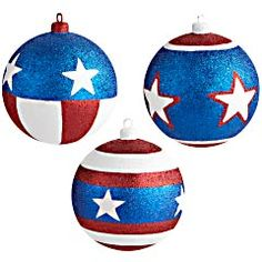 I bet I could make a Captain america Mobile out of these ornaments.