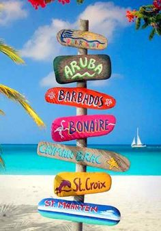 Island Signs would be cute out around veranda, patio, & pool (this would be really cute on front patio to left)