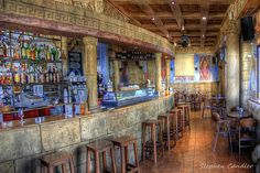 Interior of a bar at the marina, Rota, Andalusia, Spain Rota Spain, Andalusia, Beautiful Space, Light Shades, Hotels And Resorts, Places To Travel, Art Photography, Bar, Architecture