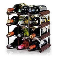 Ready To Assemble 12 Bottle Wine rack, Dark Oak £7.48 tesco 25cmx22cm
