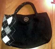 Felted wool sweater purse like the argile pattern nuthing else