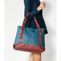 Contrast Trim Zip Tote from #YesStyle <3 yeswalker YesStyle.com.au