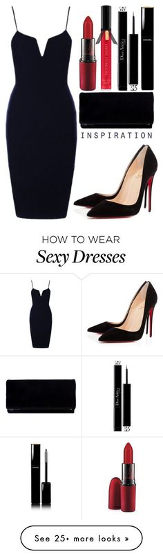 Red Lips by sad11 on Polyvore featuring Christian Louboutin, MAC Cosmetics, Chanel, Christian Dior and Victorias Secret