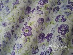 Lila virágos pamutvászon - Rosy lila