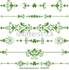 Collection of St. Patrick's Day design elements isolated on White background. Irish Symbols And Meanings, Celtic Symbols, Shamrock Tattoos, Clover Tattoos, Mini Tattoos, Body Art Tattoos, Tatoos, Celtic Tattoo For Women Irish, March Bullet Journal