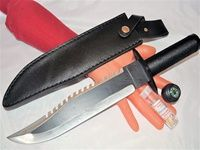 "FATA MORGANA 7 - 15"" Survival Hunting Combat Knife - Handle Storage."