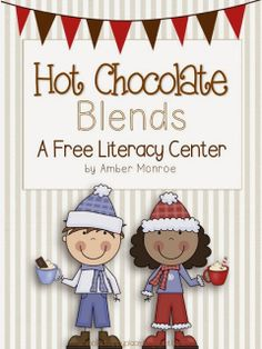 Free Winter Themed Initial Blends Center