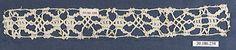 Insertion Date: 16th century Culture: Italian, Venice Medium: Bobbin lace Dimensions: L. 10 x W. 1 1/4 inches 25.4 x 3.2 cm Classification: Textiles-Laces Credit Line: Rogers Fund, 1920 Accession Number: 20.186.238